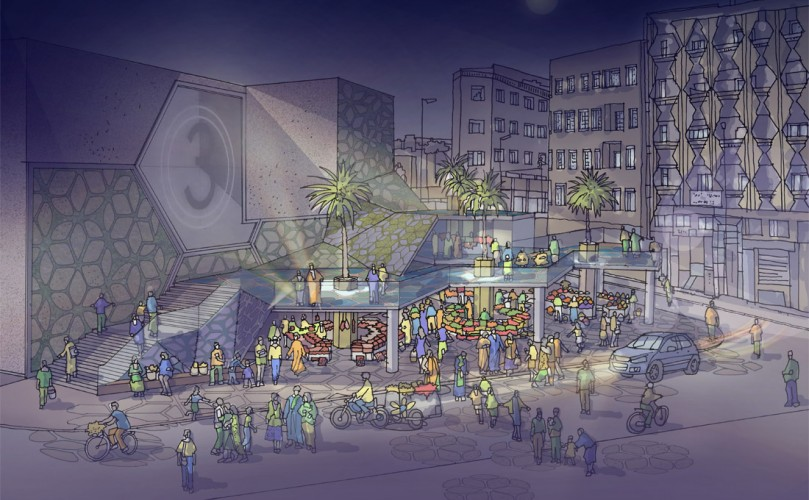 SUSTAINABLE MARKET SQUARE INSPIRED BY TRADITIONAL TEXTURES AND PATTERNS