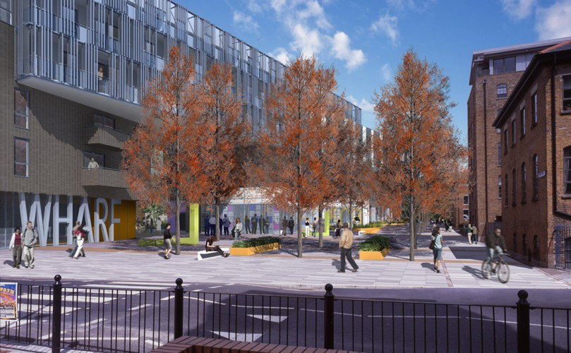 Linking new and existing communities through meaningful public external space